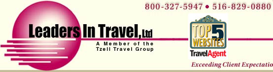 Leaders In Travel Top 5 Website by Travel Agent Magazine